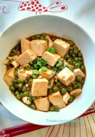 Tofu with Peas グリーンピースと豆腐丼