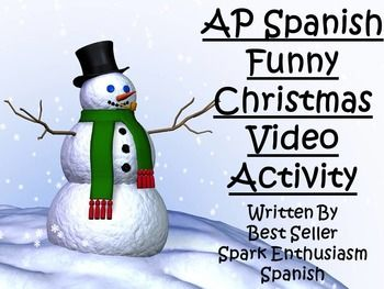 AP Spanish Funny Christmas Video Activity: This funny Navidad video activity and entertaining video highlights Christmas while showing what is truly important during the holidays. This video activity includes popular gifts given to relatives as well as typical holiday activities like eating too much food and traveling.