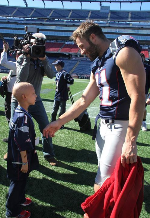 Another reason why I love this team - spending time with Make A Wish kids