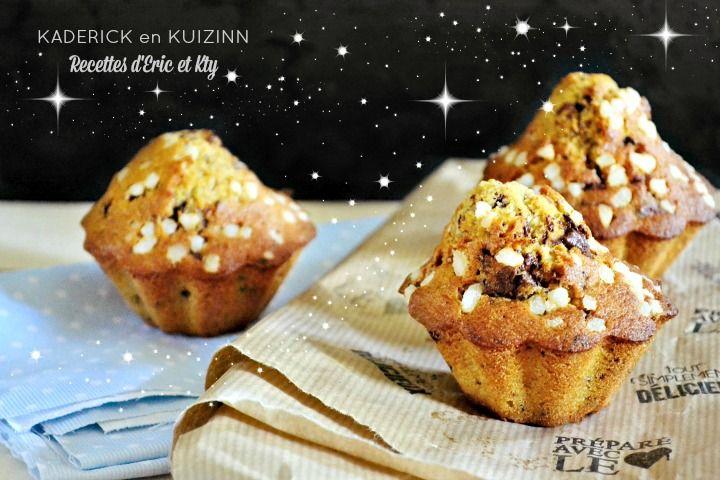 Madeleine muffins vanille et pépites de chocolat