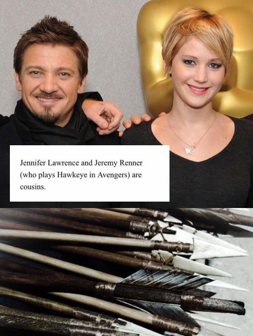 Omg.  Hawkeye and Katniss are cousins????!!!!! Y didn't anyone tell me this!!!!!!