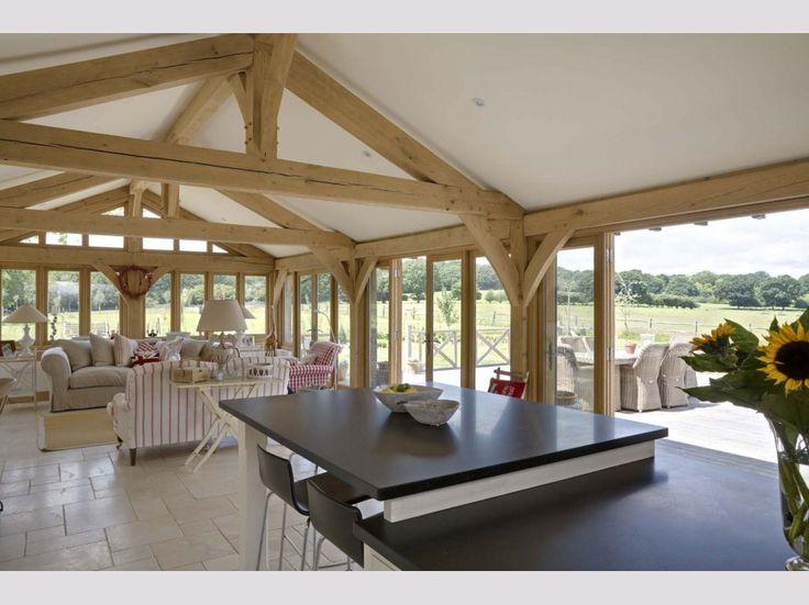 Oakwrights oak frame house kitchen images
