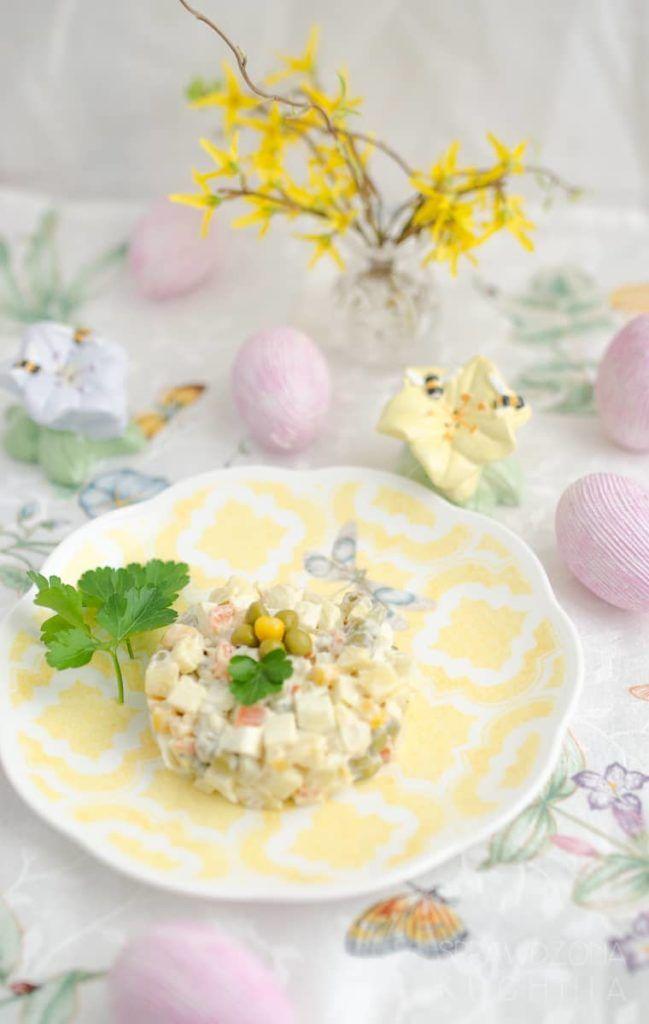 Salatka Jarzynowa Recipe Vegetable Salad Vegetables Salad