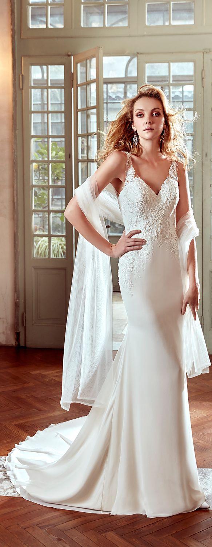Nicole Ivory mermaid gown. Nicole 2017 Collection - Wedding dress