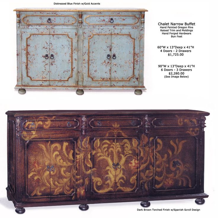 Hand Painted Old World Furniture