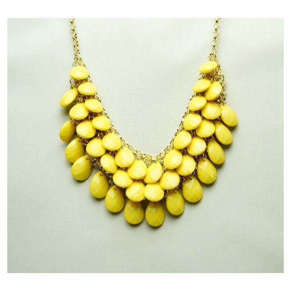 HOT SALE YELLOW Bubble Necklace,Handmade Bib Necklace,Statement... (47 BRL) ❤ liked on Polyvore featuring jewelry, necklaces, adjustable necklace, yellow jewelry, bubble bib necklace, yellow statement necklace and bubble necklaces