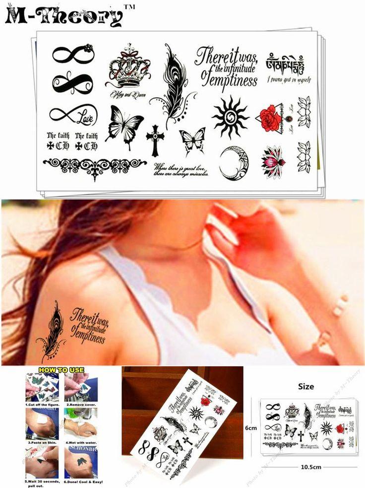 [Visit to Buy] M-Theory Small Temporary Choker Makeup Tattoos Sticker 3d Flash Tatoos Tatuagem Henna Tatto Body Arts Tatouage Sticker 10.5*5cm #Advertisement