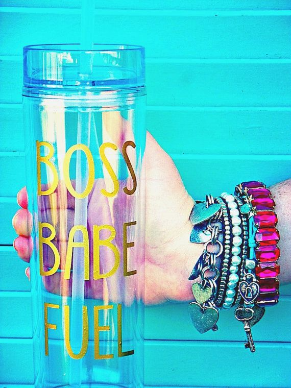Boss Babe Fuel Water Bottle- FREE SHIPPING, Custom Water Bottle, Gift for Boss, Bridal Party Gift, Stocking Stuffer, Christmas Gift for Her