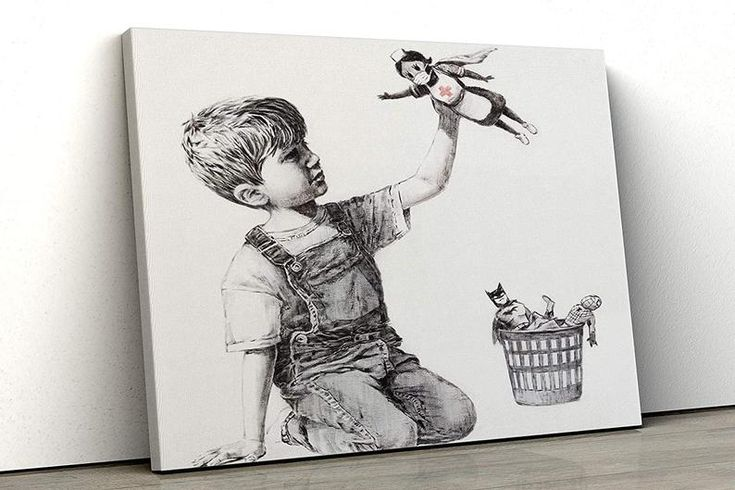 Banksy Super nurse hospital Game Changer famous Wall Art