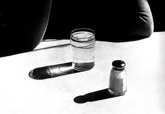 Ralph Gibson, still life, salt, tabletop