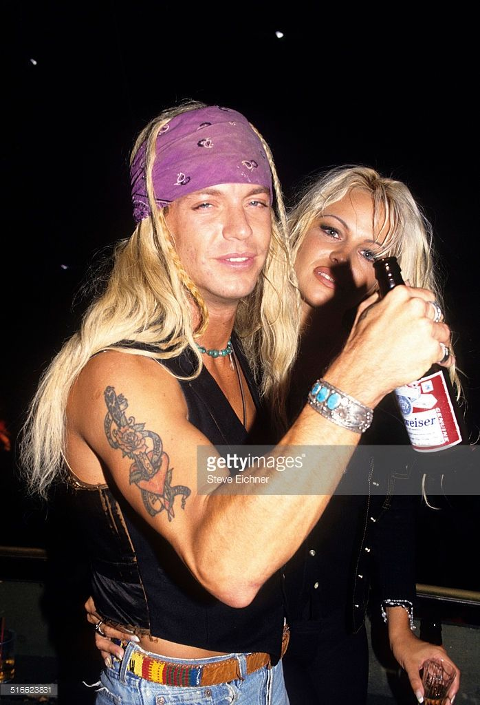 Bret Michaels of Poison and Pamela Anderson at Webster ...