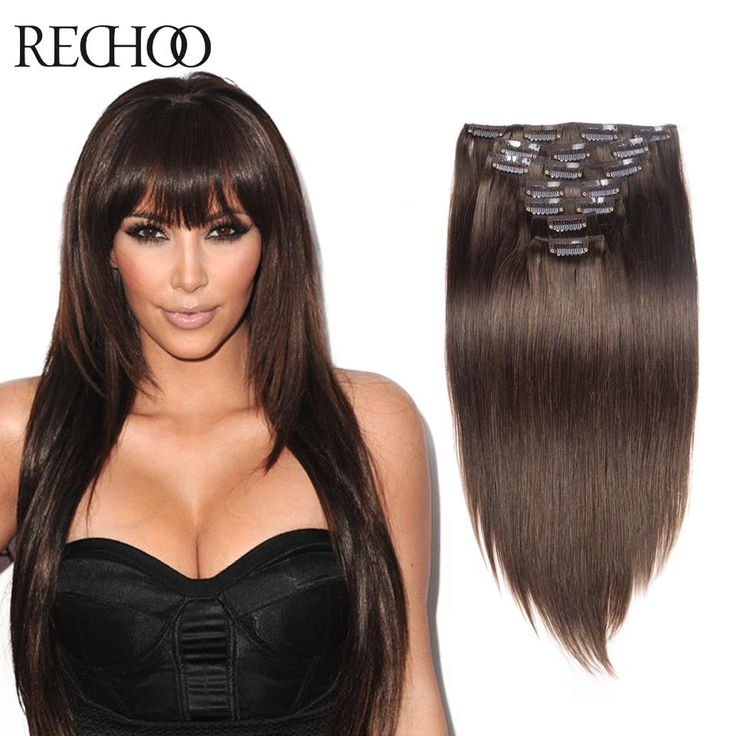 Affordable Clip In Full Head Human Hair Extensions 70G to 200G  Clip In African American Relaxed Human Hair Extensions
