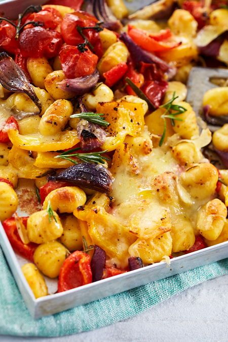 Ofen-Gnocchi mit bunten Energy-Veggies – Ofengerichte