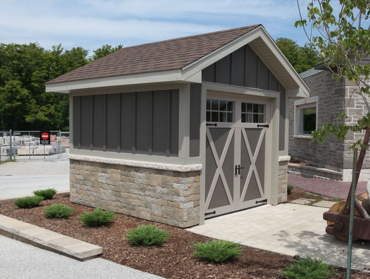 Fusion dry stack stone garden shed outdoor spaces for Stone garden shed designs