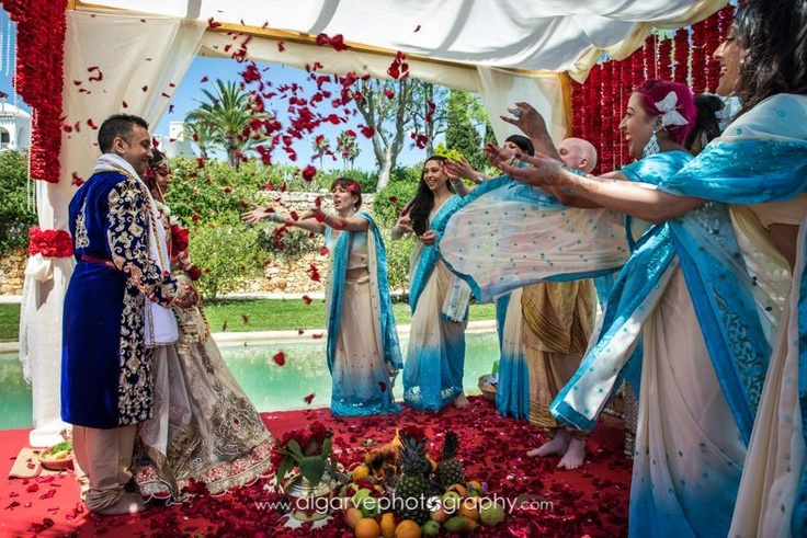 A beautifully colorful indian wedding performed at VILA VITA Parc, in Portugal, just a couple of weeks ago.