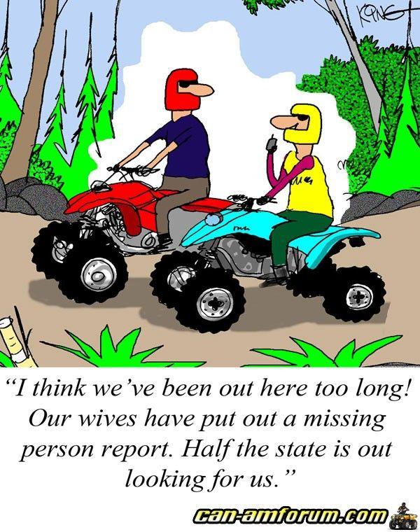 Atv Truck Ramps >> ATV Riders | Funny quotes, Comic books, Comic book cover