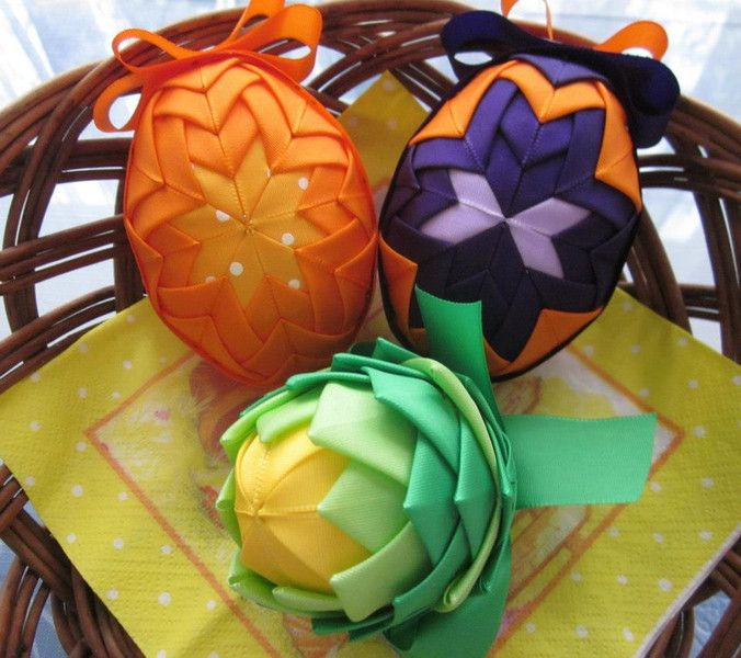 Fabric Decorations – Easter eggs – a unique product by JanickaM on DaWanda
