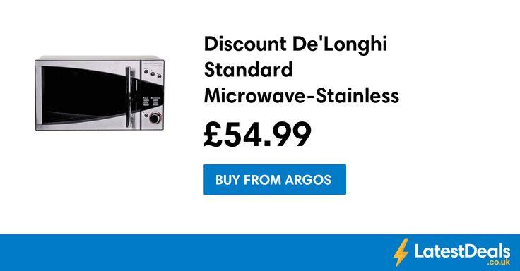 Discount De'Longhi Standard Microwave-Stainless Steel Half Price at Argos, £54.99 at Argos