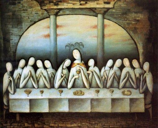 Jan Zrzavý,  Svatá večeře  (1913), malba, olej, plátno