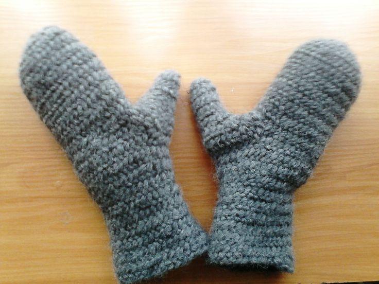 Nålebinding mittens. Oslo stitch. hand-made. 100% wool.   (Also Naalbinding/needle-binding)