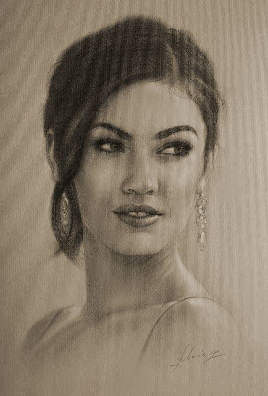 Celebrity Pencil Portraits - Megan Fox