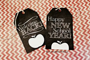 Welcome Back Tags - Free Printable. already downloaded these, use them to attach to first day cookie gift.