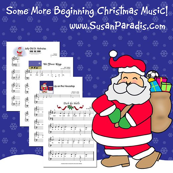 I've been busy and added some more beginning level Christmas music to my big list of Christmas arrangements in mylast post. Today's group are for beginners who know just a few notes on the staff. ...