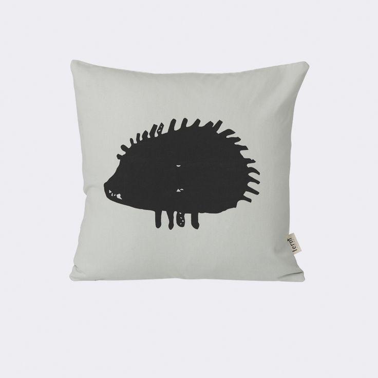 Hedgehog Cushion - Mint