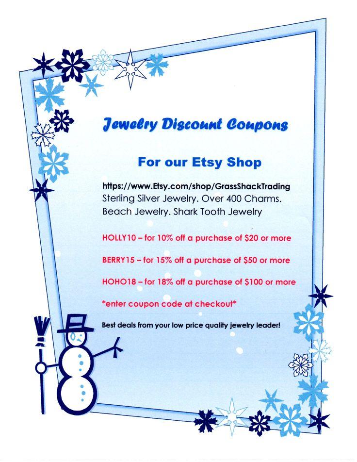 Etsy coupon code jewelry