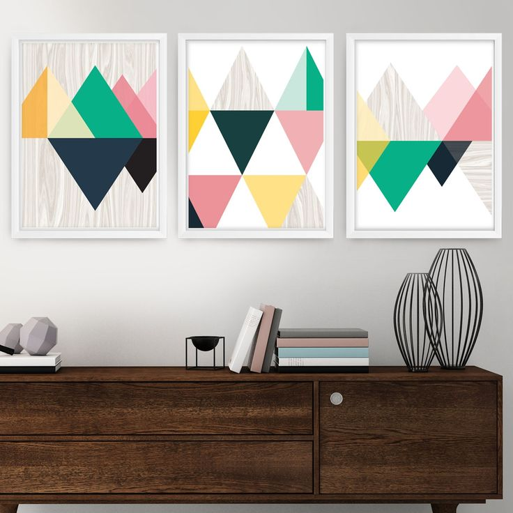 Woodlands wall art (set of 3)