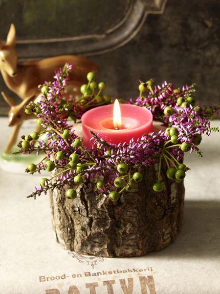Herbstdeko: Stimmungsvolles Kerzenlicht