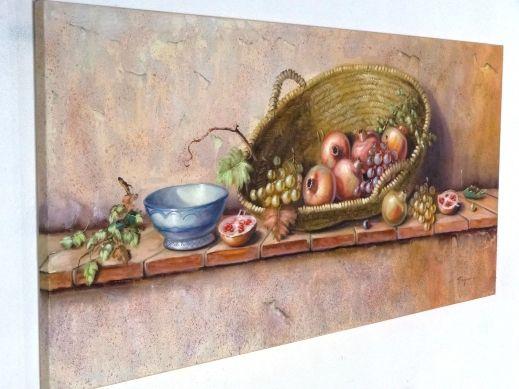 Cuadro Bodegón Cesta de Frutas [04-014] | www.olyarte.com