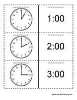 Time Flash Cards - Have Fun Teaching