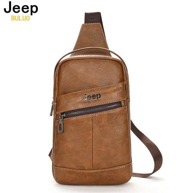 Check current price JEEP BULUO Famous Brand Man Chest Bag Cow Split Leather Sling bag Large Capacity Handbag Muzee Summer Crossbody Bags 1667 just only $20.13 with free shipping worldwide  #crossbodybagsformen Plese click on picture to see our special price for you