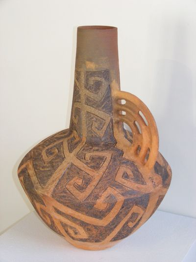 Ceremonial 1 Baye Riddell contemporary ethnic maori ceramic art kura gallery new zealand