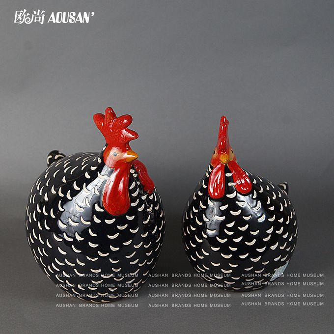 American pastoral French country style to do the old retro patterns solid ceramic chicken ornaments creative & 41 best Rooster/Chicken Dinnerware/Serveware images on Pinterest ...
