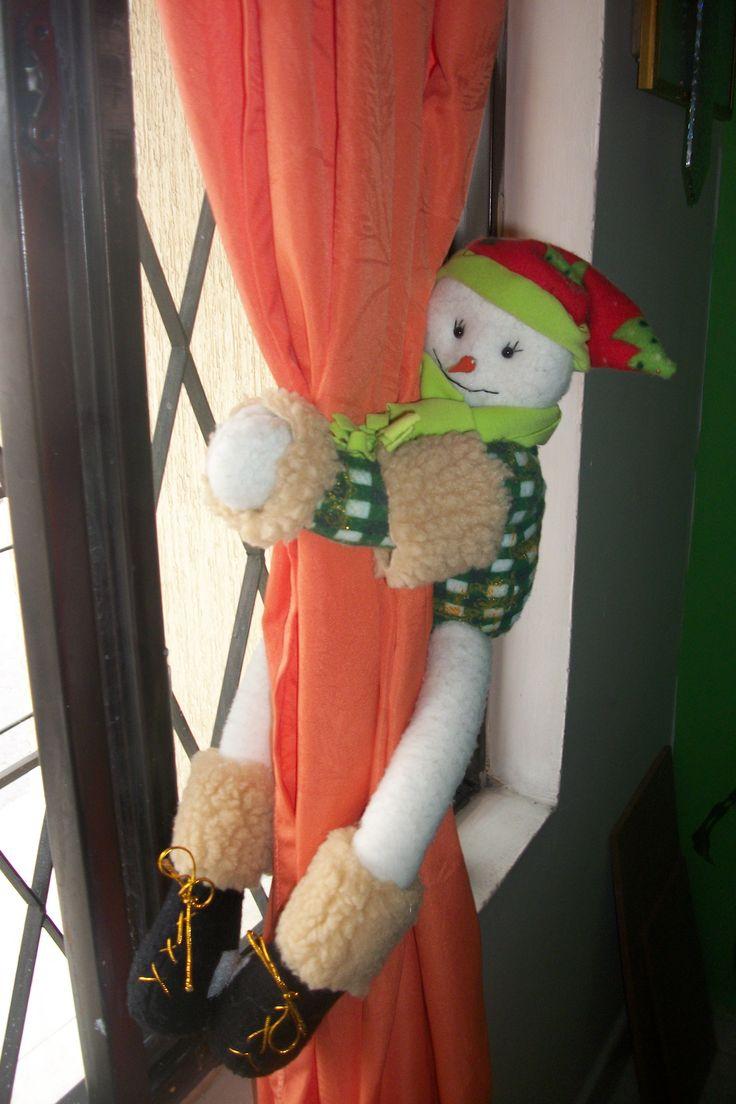 Agarrador de cortina navideño