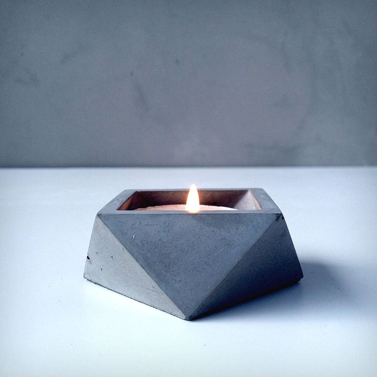 Grey Candle Holder (Set of 3)