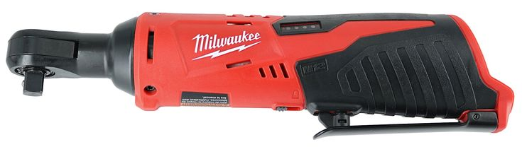 """Milwaukee 2457-20 M12 Cordless 3/8"""" Sub-Compact 35 ft-Lbs 250 RPM Ratchet w/ Variable Speed Trigger (Battery Not Included, Power Tool Only)"""