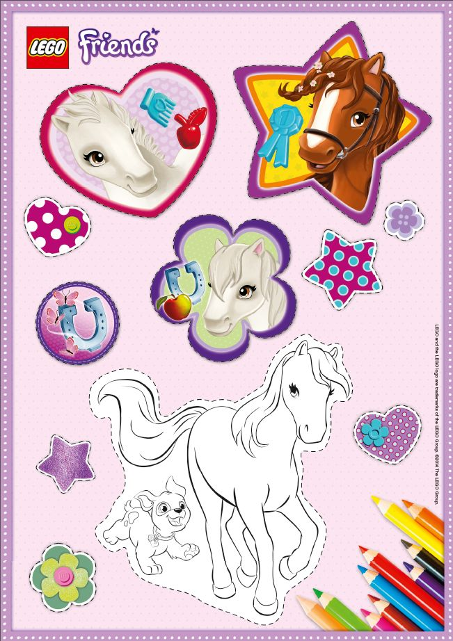 Beautiful Lego Friends Coloring Book
