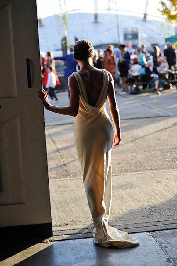 A Sabina Motasem Gown for a Vintage Blue Inspired East London Wedding | Leela Bennett Photography
