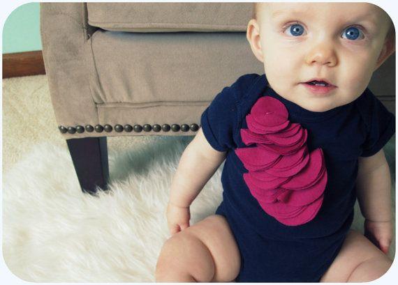 Stylish Baby Girl Bodysuit By Hudson And Ruthie by HudsonAndRuthie