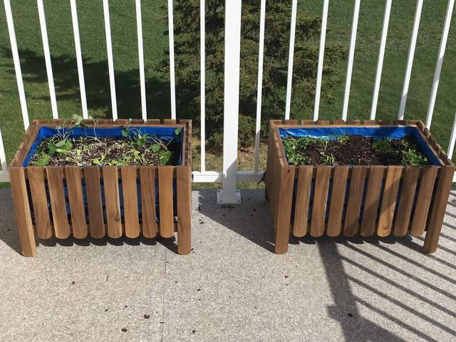 Diy Raised Bed Liner For Askholmen Planter Ikea Hackers With