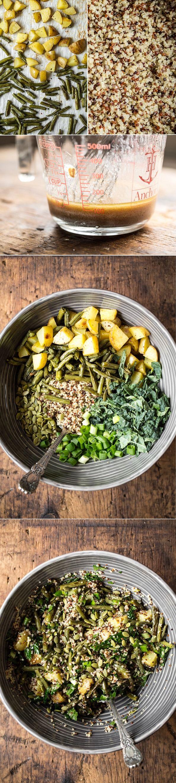 Warm + Roasted Winter Salad Quinoa Bowl — by Oh She Glows. #vegan #glutenfree
