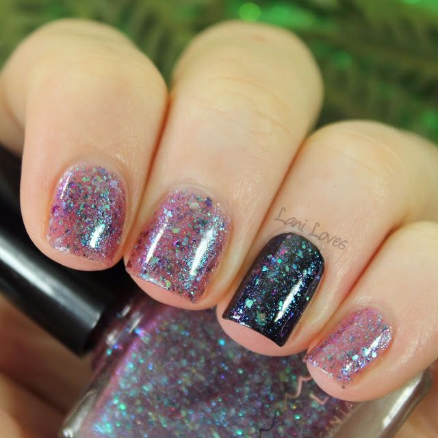 Femme Fatale Cosmetics Night and Silence nail polish Swatches & Review
