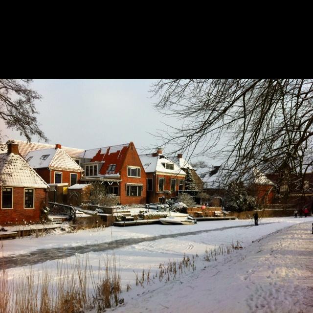 Winsum in de winter.