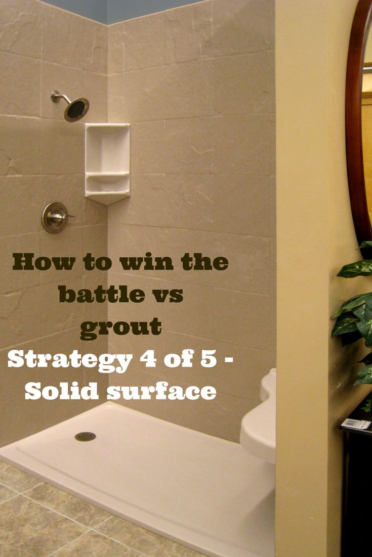 i hate grout joints in the shower winning the battle vs grout shower pan the o 39 jays and. Black Bedroom Furniture Sets. Home Design Ideas