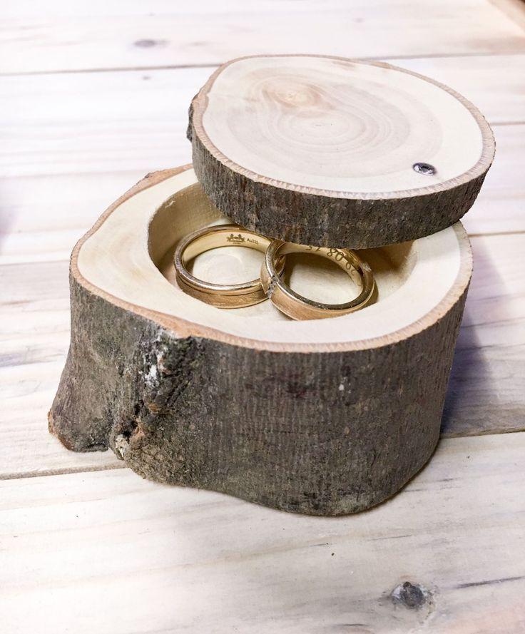 Ringendoosje. Dit ringendoosje is een te gekke en hippe versie van het ringenkussen. Www.tak-online.nl