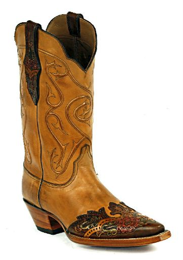 Hand-Tooled Leather Boots Style HTR-251 Custom-Made by Black Jack Boots