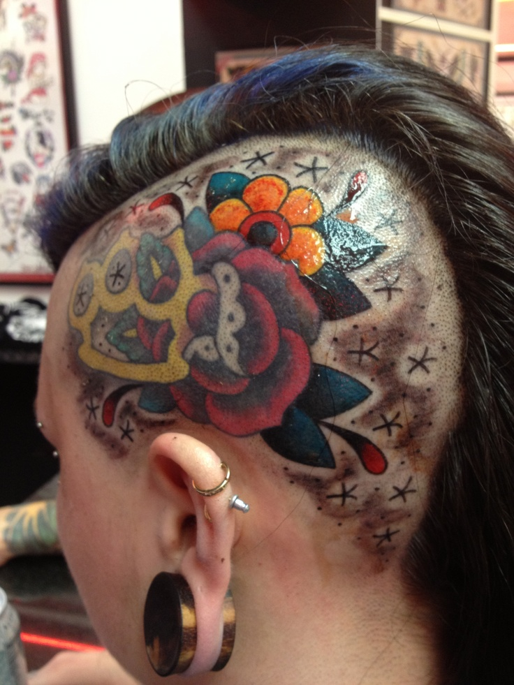 29 best images about head tattoos on pinterest 13 for Girl head tattoo